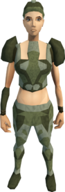 Snakeskin armour (female) equipped
