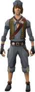 Western Crew's outfit equipped (male)
