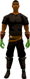 Dragon slayer gloves equipped