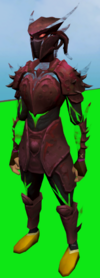 Elite sirenic armour set (blood) equipped