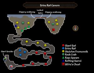 Brine Rat Cavern map