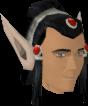 Elf-style wig (black, male) chathead