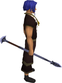 Mithril spear equipped