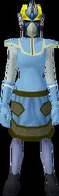 Reinforced slayer helmet (cf) (yellow) equipped