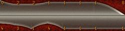 Exemplo de espada cerimonial