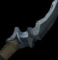 Off-hand gorgonite dagger detail