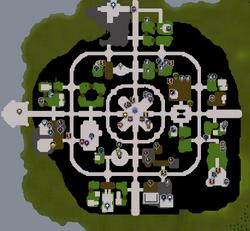 Prifddinas map