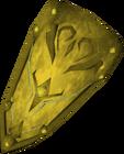 Rune kiteshield (Gilded) detail