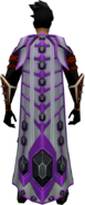 Shadow Gem Cape equipped