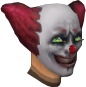 Sinister clown face chathead (male)