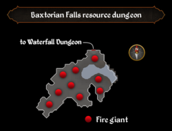 Baxtorian Falls resource dungeon map