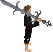 Replica Bandos godsword equipped