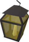 Candle lantern (lit white) detail