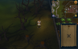 Compass clue Draynor west of Draynor Manor