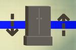 Gilded wardrobe (flatpack) detail