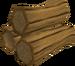 Oak logs detail