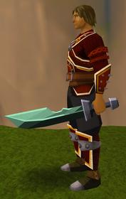 Off-hand adamant ceremonial sword II equipped