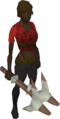 Sacred clay pickaxe equipped.png