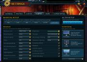 Settings (Graphics) interface