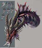 Arte Conceitual da Dragoa Negra Rainha