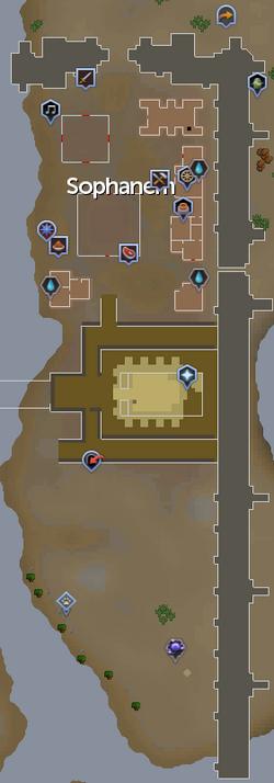 Sophanem mapa