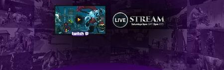 Twitch Saturday livestream banner