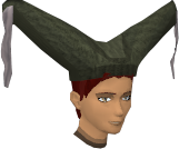 A stylish hat (female, green) chathead