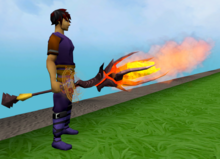 Augmented staff of limitless fire equipped