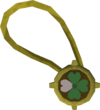 Dazzling three-leaf clover necklace detail