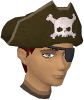 Pirate hat and eyepatch chathead