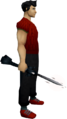Seismic wand (Third Age) equipped.png