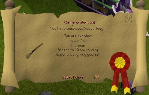 Swept Away rewards