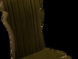 Crude wooden chair