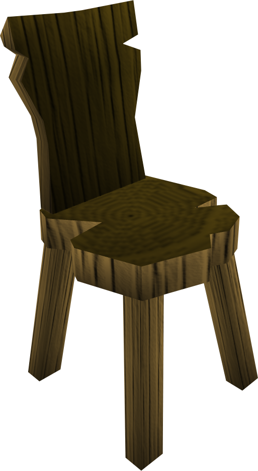 Crude Wooden Chair Built