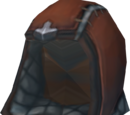 Hard leather cowl