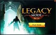 Legacy mode in-game banner
