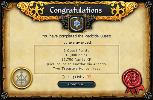 Regicide reward