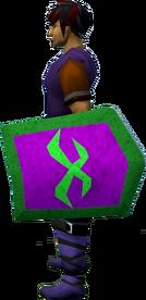 Rune kiteshield (Misthalin) equipped