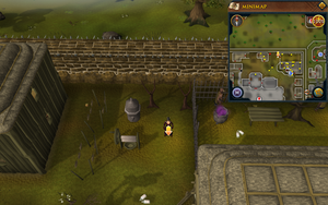 Scan clue West Ardougne outside mourner headquarters