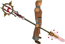 Zamorak Tuska spear equipped