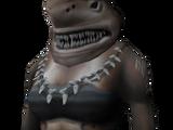 Burnt shark head
