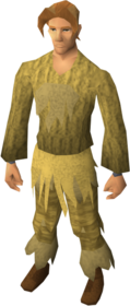 Desert camouflage gear equipped
