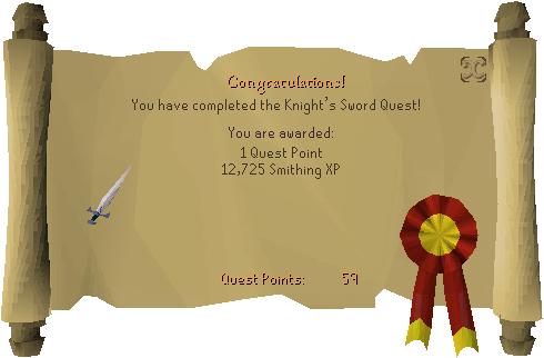 Knights Sword Reward