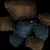 Minério de runita detalhe