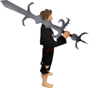 Replica Zamorak godsword equipped