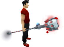Augmented Staff of Sliske equipped