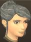 Female hair bun with fringe