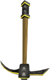 Gilded iron pickaxe detail