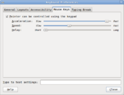Mouse Keys Setup- Linux (GNOME)