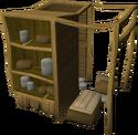Wooden larder built